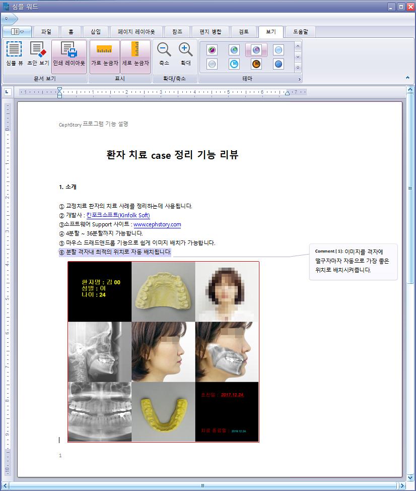 MS Word 문서 작성, 편집 프로그램 - 텍스트, 이미지 삽입, 코멘트 작성